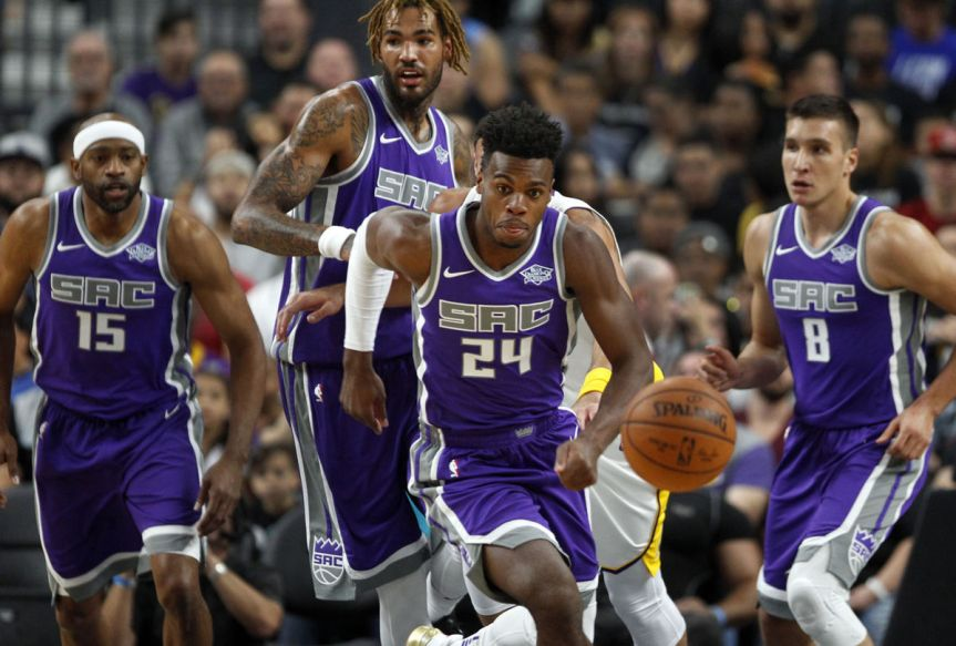 Late Houston Surge Spoils Kings' Home Opener 105-100